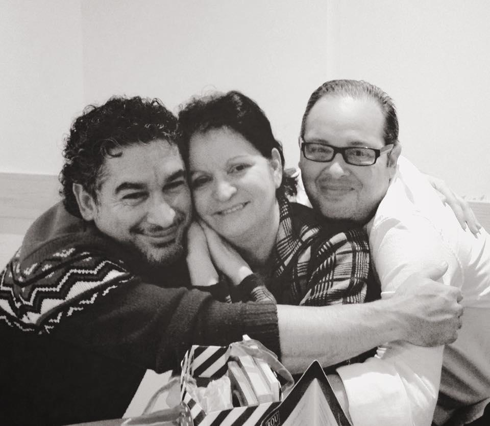 Con el escritor Eloy Enrique Valdés y la poeta Cira Andrés