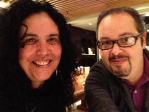 Con Alicia Llarena