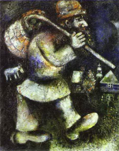 """Le Juif errant"" by Marc Chagall"